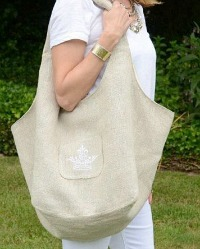 French Country Linen Market Bag