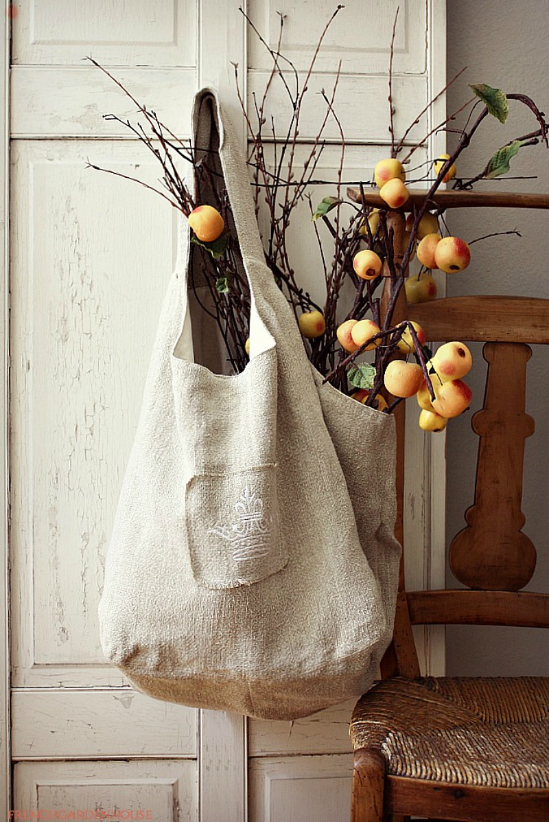French Country Linen Market Bag LAST ONE