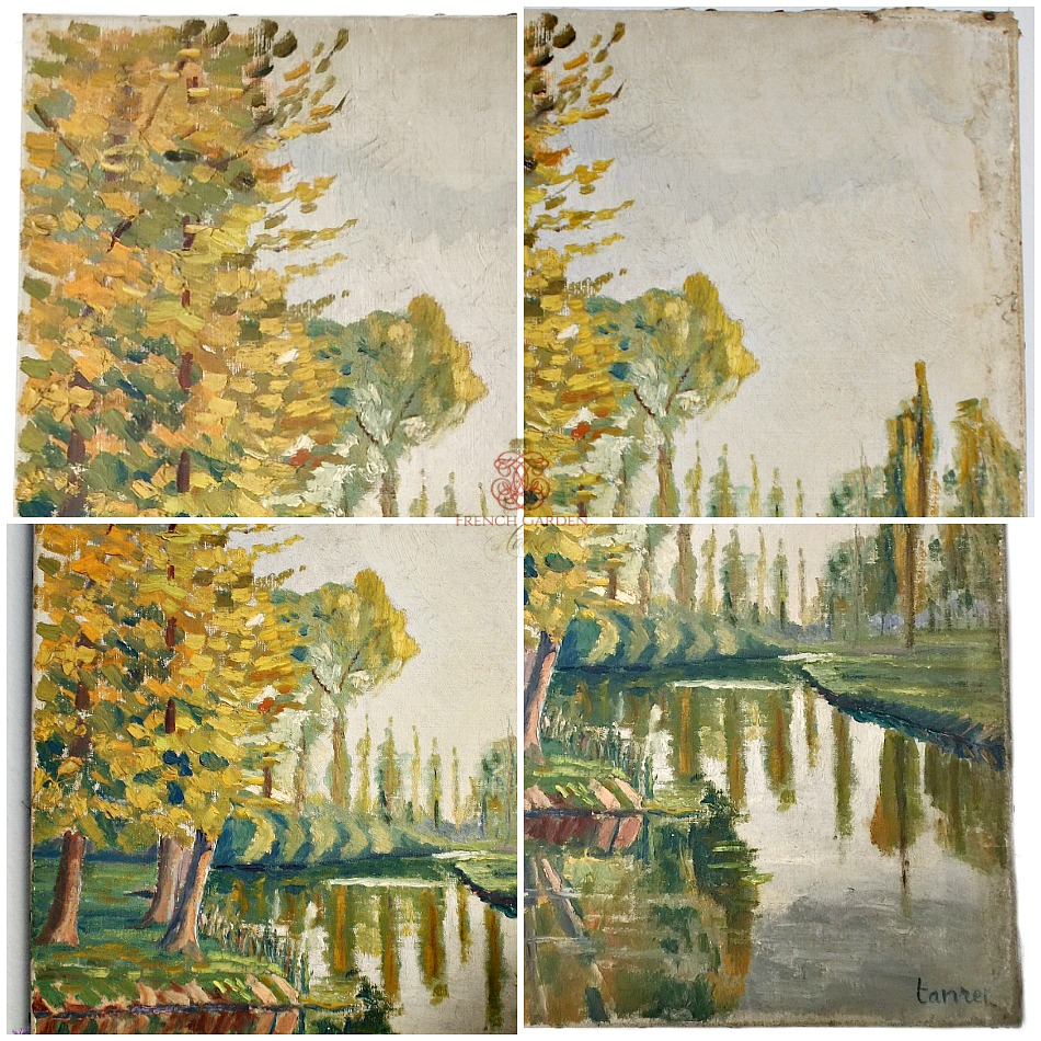 French Fleamarket Oil Painting Country River