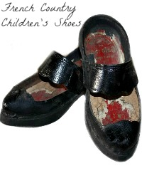 Antique French Country Child's Wooden Shoes