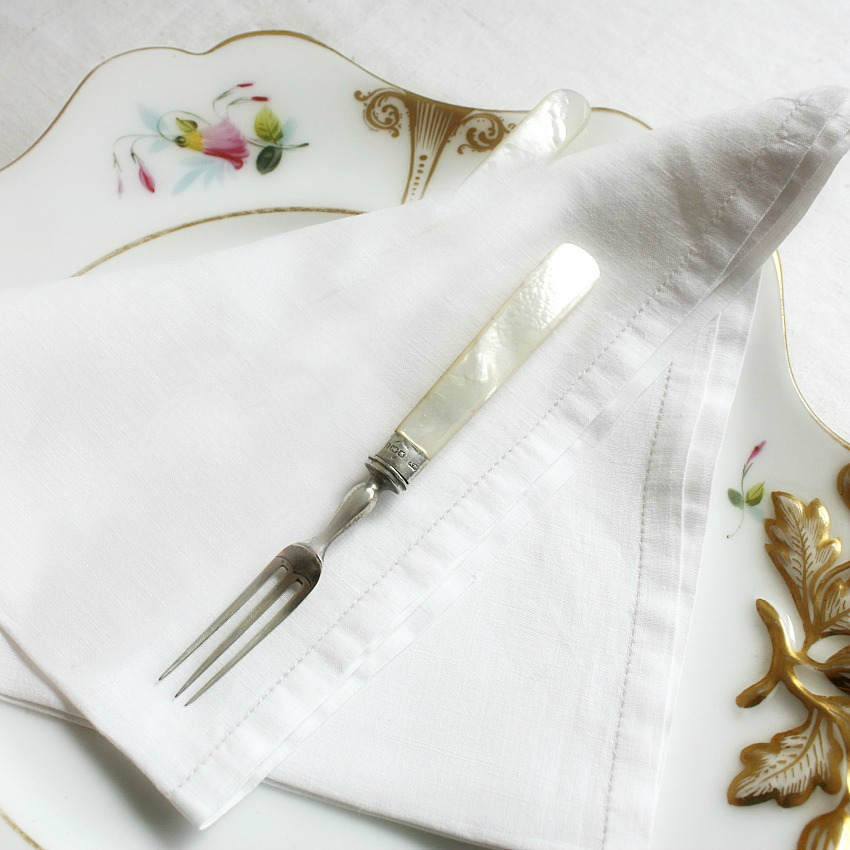 Antique Mother of Pearl Sterling Silver Cocktail Fork
