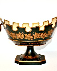 French Tole Footed Monteith Bowl, Compote