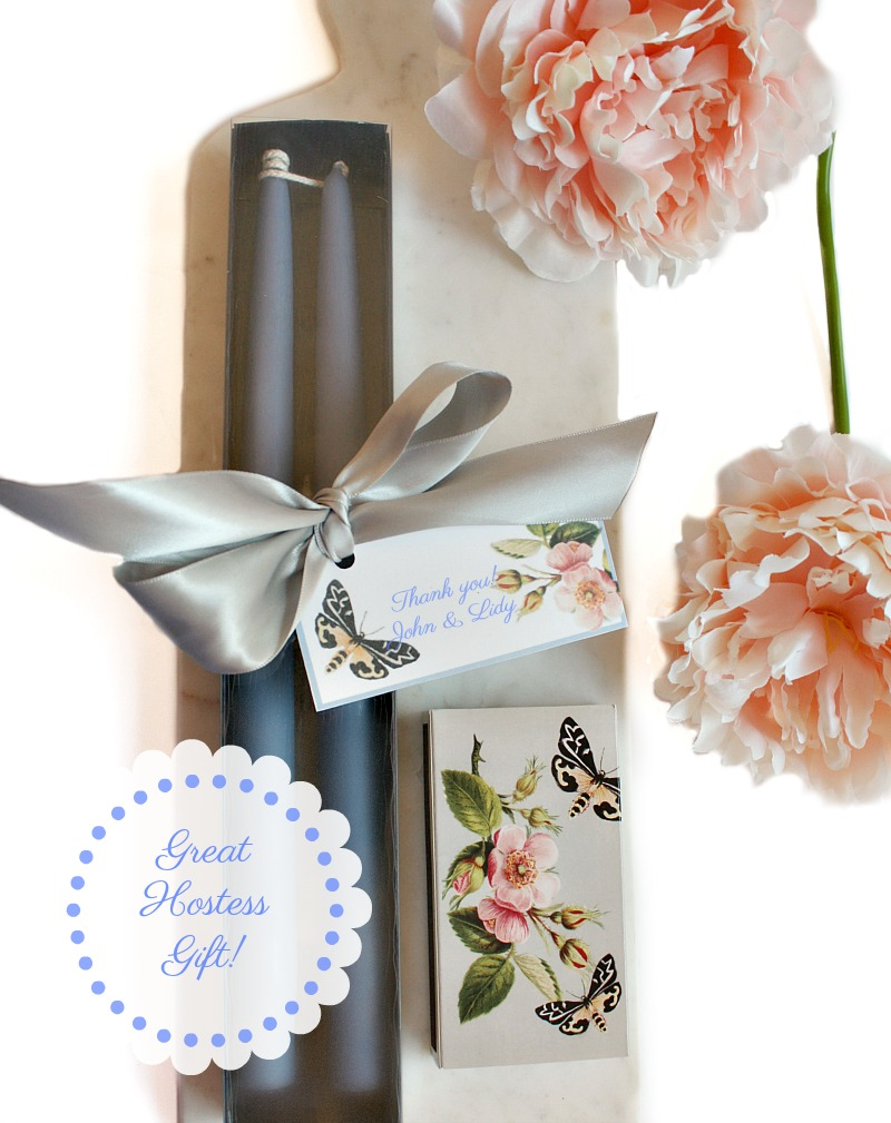 Hand Dipped Taper Candles Gift Set French Bleu