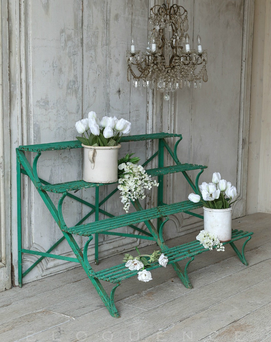 Antique Edwardian Cast Iron Conservatory Plant Stand