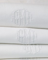 Estate Pique White Monogrammed Guest Towel GMD