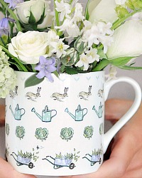 Country Gardener Bone China Mug