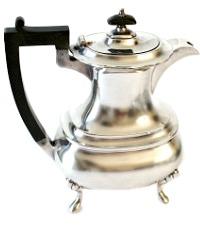 Antique Walker & Hall Sheffield Silver Plate Tea Pot
