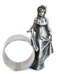 Collectable Lady Figural Napkin Ring