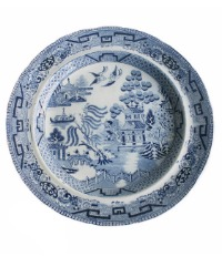 Antique Georgian Blue Willow Plate