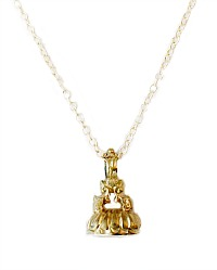 Georgian Forget Me Not Gold and Agate Seal Necklace
