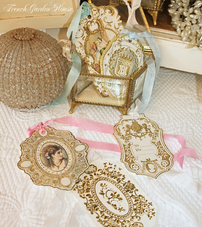 Large Luxurious Gilded Gift Tags Set of 5