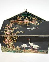 Antique Large Advertising Lithography Tin Shoe Polish Storage