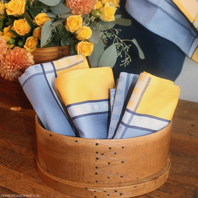 French Country Lavender Blue & Yellow Drying Tea Towel