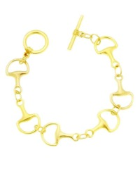 Gold Classic Horse Bit Bracelet
