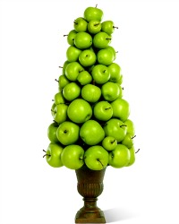 French Country Apple Topiary Green