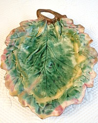 19th Century Majolica Oak Leaf Platter Griffin Smith & Hill