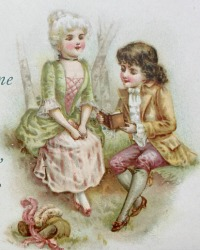 Antique Valentine's Day Gift Booklet