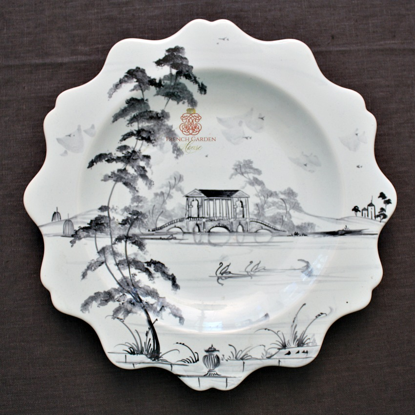 Exceptional Scalloped Plate Hand Painted Deborah Sears