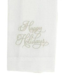 European Luxury Happy Holidays Towel