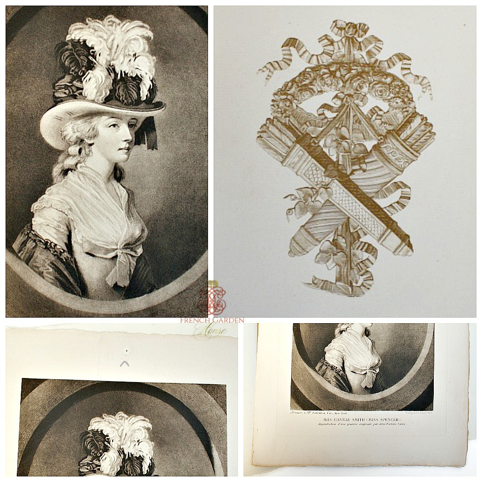 Antique Folio Millinery Advertisement Photogravure Paris
