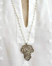 Georgia Hecht Bird Heart Charm Necklace