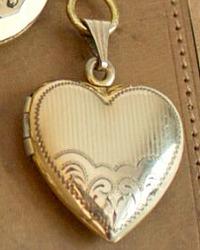 Antique Gold Filled Heart Locket Necklace
