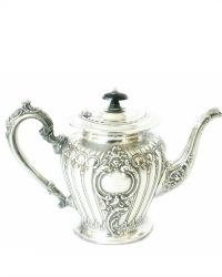 Elegant English Sheffield Silver Plated High Tea Pot