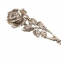 Silver Art Nouveau Sugar Spoon with Rose