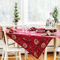 Holiday Red Paisley Tablecloth
