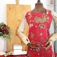 Holiday Red Paisley Apron