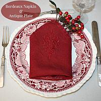 Pom Pom At Home Bordeaux Windsor Napkin Set of 4