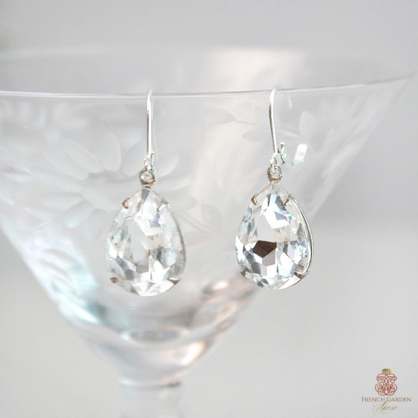 Hollywood Clear Jeweled Rhinestone Earrings