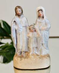 19th Century French Holy Family Parian Children's Toy Souvenir