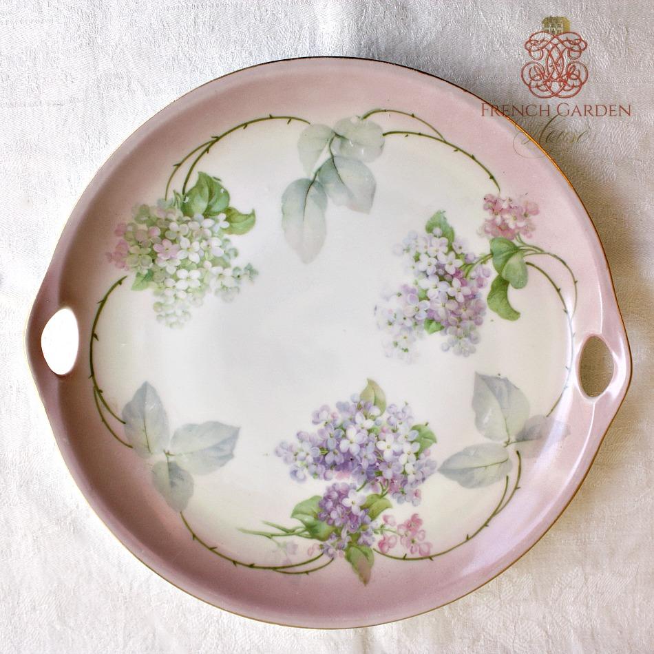 Antique Pink, Blue and Purple Hydrangea Cake Platter