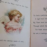 Antique Victorian Religious Gift Book Angels
