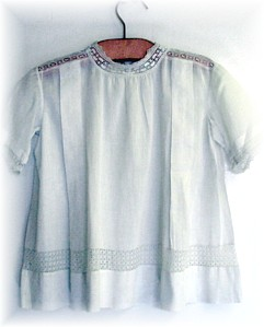 Antique French Heirloom Needle Lace White Baby Dress