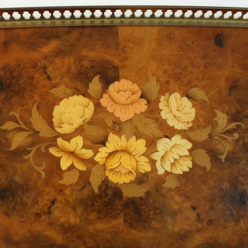 Italian Vintage Floral Serving Tray