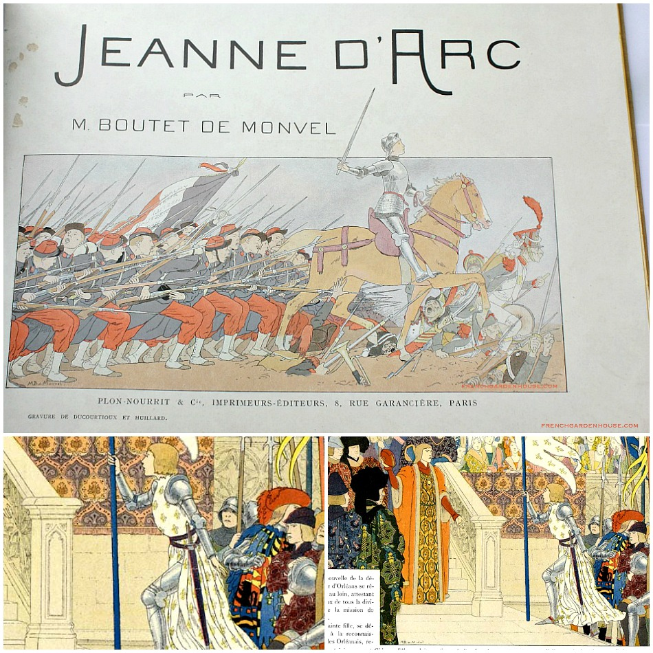 Antique French Jeanne d'Arc Illustrated Children's Book Monvel
