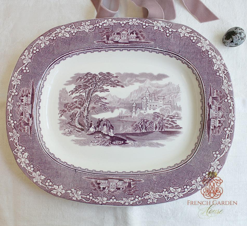 Vintage Royal Staffordshire Mulberry Serving Platter
