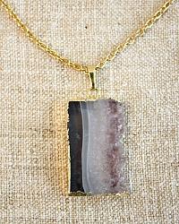 Natural Amethyst Pendant Necklace Joie