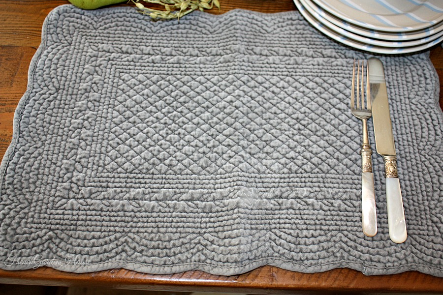 Pom Pom At Home Juliet Velvet Quilted Tablemats Set Of 4