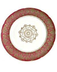Royal Ivory KPM Porcelain Garnet & Gilt Dinner Plate Set of 11