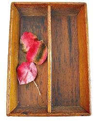 Antique Handmade Wood Silverware Caddy