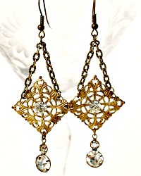 L'Opera One of a Kind Rhinestone Earrings