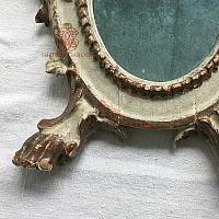 Antique 19th Century Lamb Of God Altar Mirror