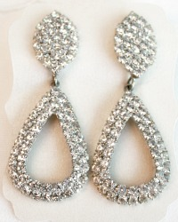 Audrey Vintage Rhinestone Teardrop Earrings