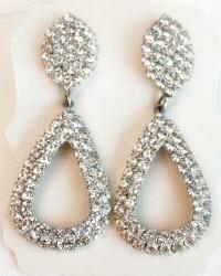 Audrey Vintage Rhinestone Teardrop Earrings