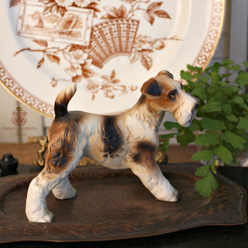 Vintage Wire-Haired Fox Terrier Porcelain Model