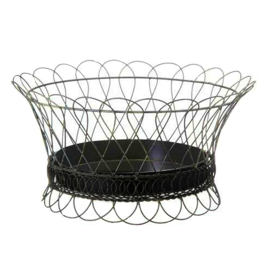 Large French Country Style Wire Tole Planter Round