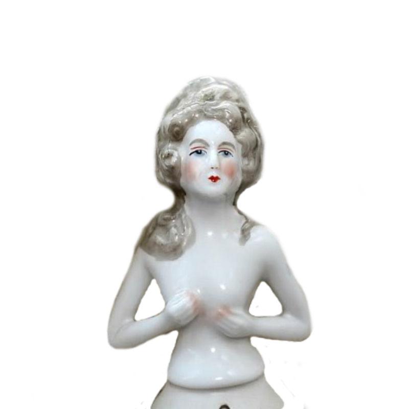 Large Antique Porcelain Half Doll